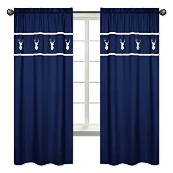 Amazon Com Sweet Jojo Designs 2 Piece Navy White Deer Boys Bedroom