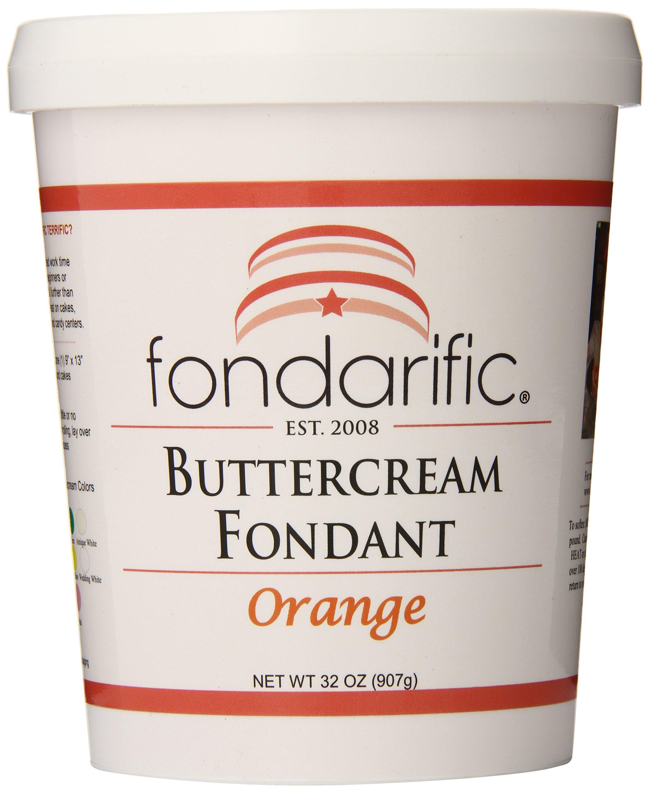 Fondarific Buttercream Orange Fondant, 2-Pounds