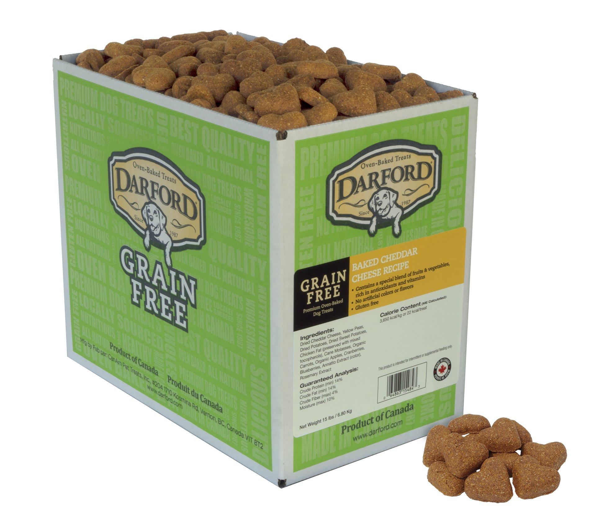 Grain Free Cheddar Cheese Recipe Dog Treats, 15 lb by Darford