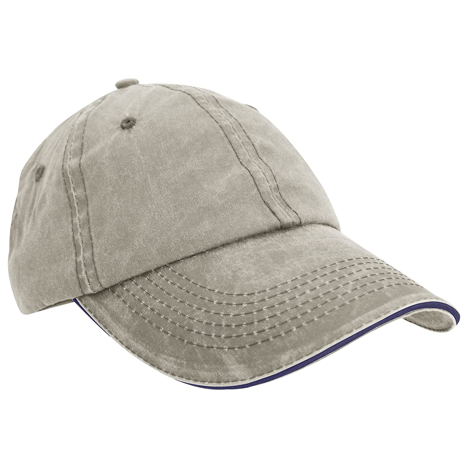 f3fe6ede232ca Result Washed Fine Line Cotton Baseball Cap With Sandwich Peak (One Size)  (Navy Putty)  Amazon.co.uk  Clothing