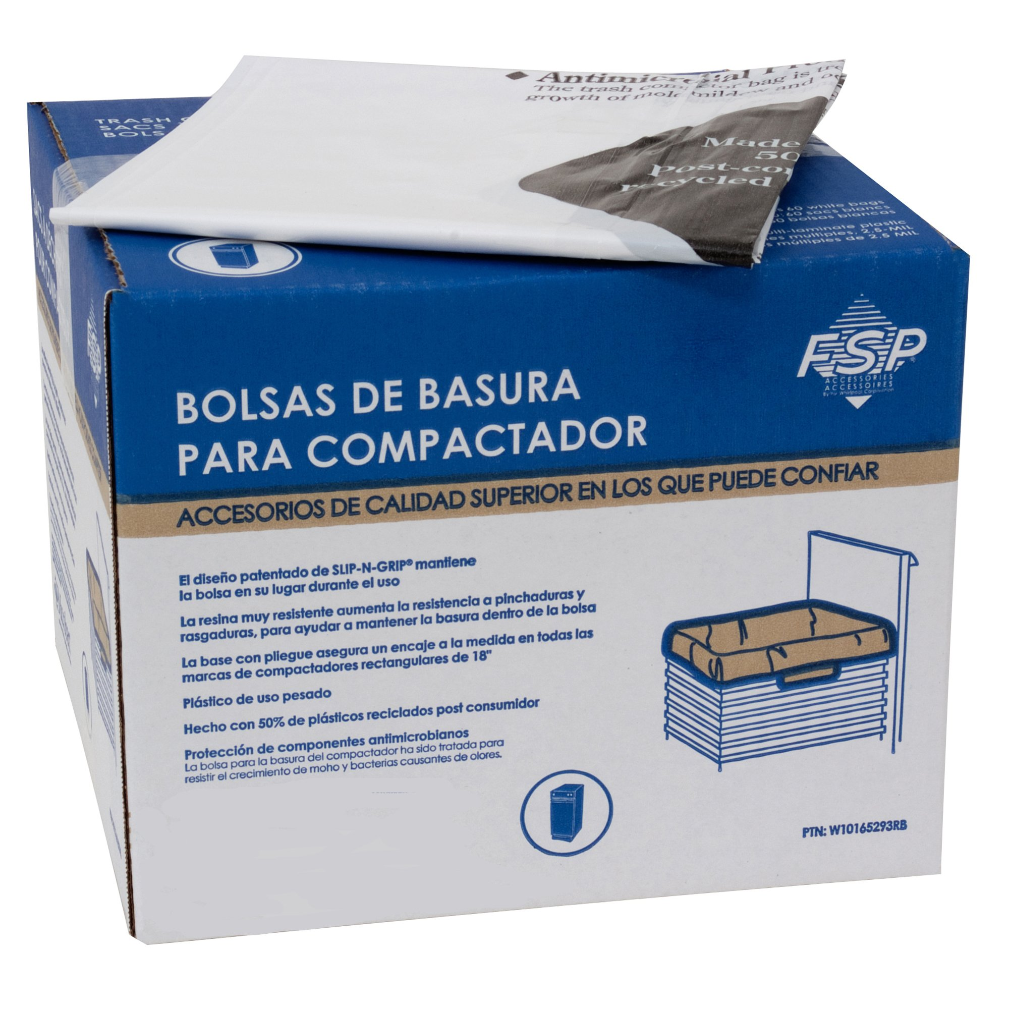 """Dano pre-cuffed paper compactor bags trash 12 pack fits 15/"""" Models New"""