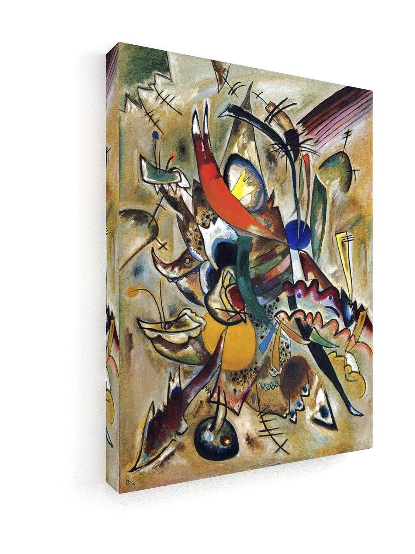 Wassily Kandinsky - Malen mit Punkten - 60x80 cm - Premium Leinwandbild auf Keilrahmen - Wand-Bild - Kunst, Gemälde, Foto, Bild auf Leinwand - Alte Meister Museum B07DHXDBRY | Erste Qualität