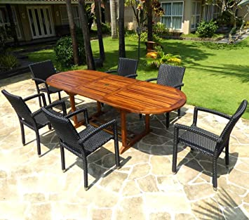 Amazonde Wood En Stock Gartenmöbel Teak Java Mit 6 Sessel