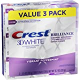 Crest 3D White Brilliance Toothpaste, Vibrant Peppermint, 3.9 Oz (Pack of 3)