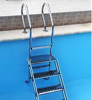 Escalera piscina de acero inoxidable V2 A Pool Escalera empotrable Escalera Gran 3 niveles de piscina Escalera – Escalera para su piscina: Amazon.es: Jardín