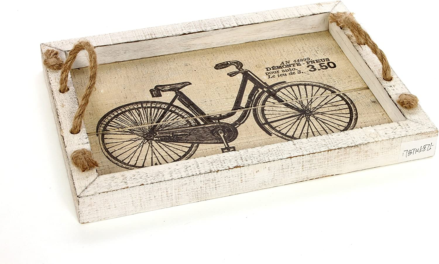 """Hosley 14"""" Long, Decorative Tabletop Bicycle Image Tray. Ideal Gift for Wedding, Home, Party Favor, Spa, Reiki, Meditation, Bathroom Settings O9"""