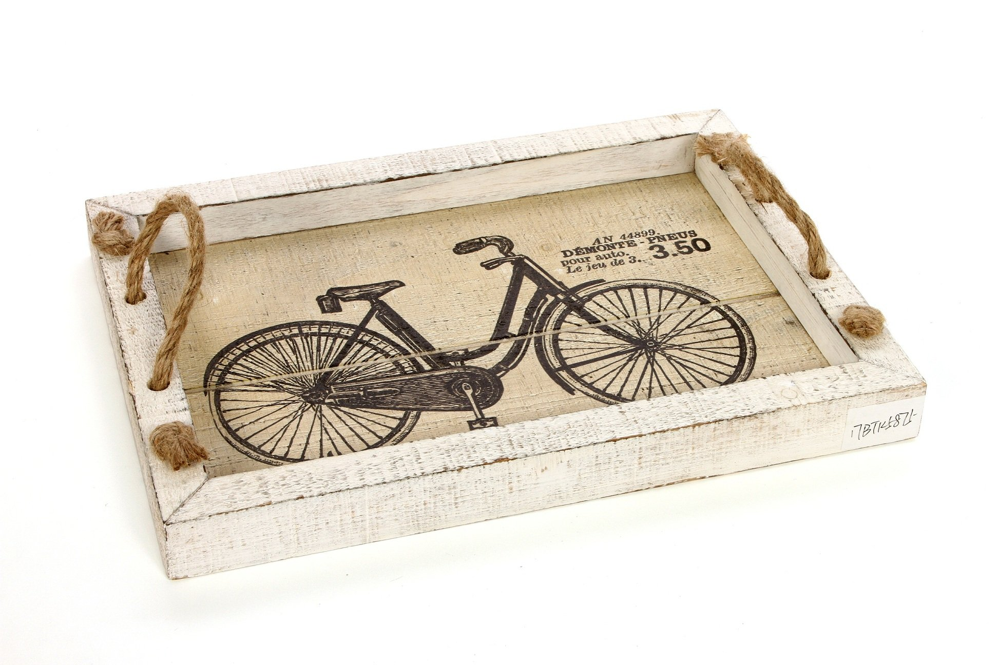 Hosley 14'' Long, Decorative Tabletop Bicycle Image Tray. Ideal Gift for Wedding, Home, Party Favor, Spa, Reiki, Meditation, Bathroom Settings O9