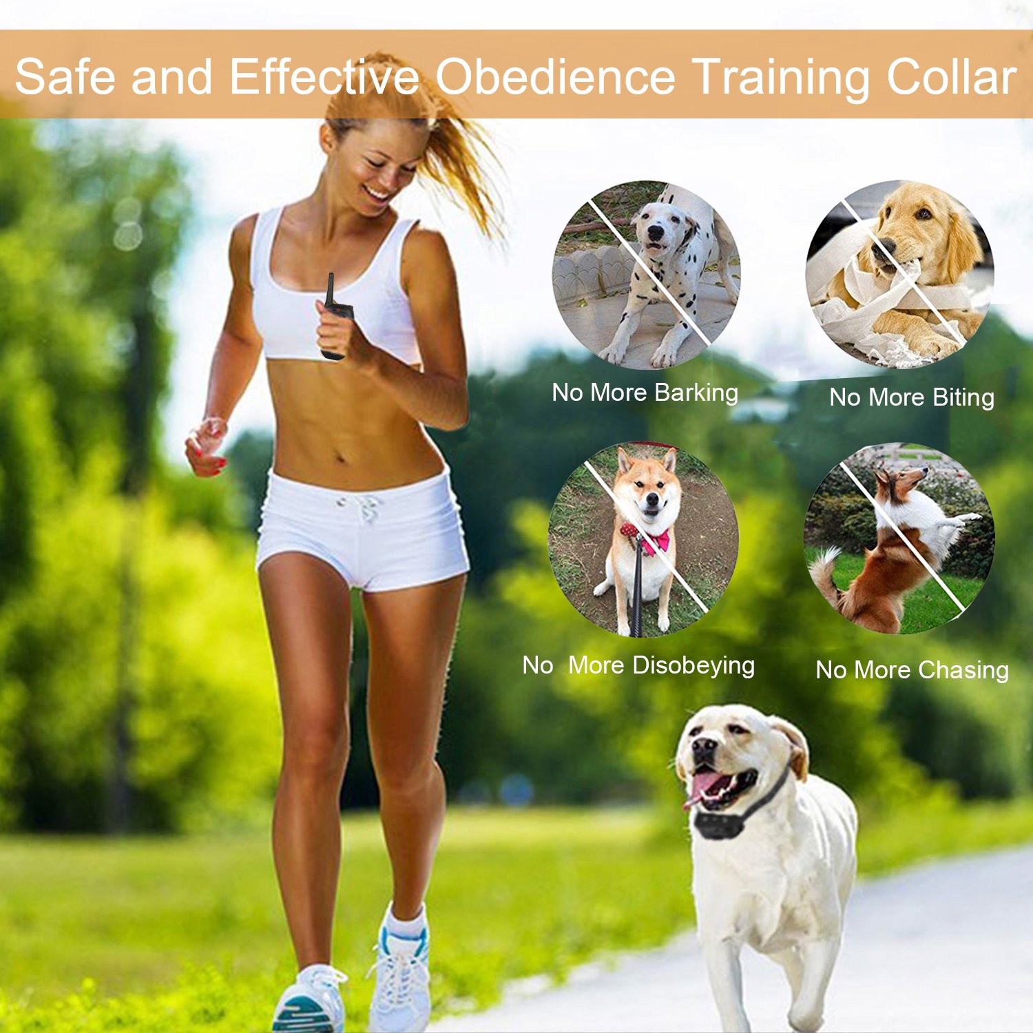 Fettish Dog Training Collar Rechargeable & Waterproof Electric Remote Dog Shock Collar with LED Light Beep Vibration Safety Shock Modes for Small/Medium/Large Training Collars by Fettish (Image #6)