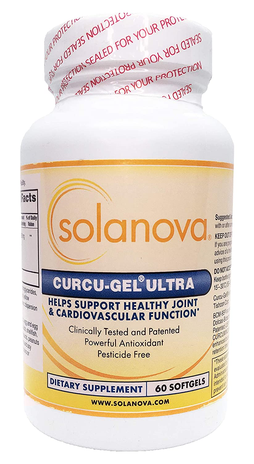 Curcu-Gel Ultra Curcumin Spice Supplement 500mg, 60 Softgels by Solanova