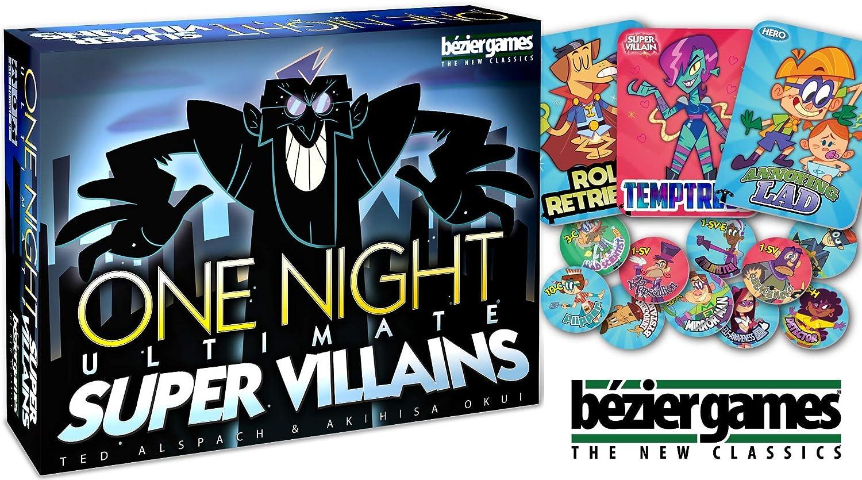 Bezier Games BEZ00031 One Night Ultimate Super Villains, Multicolor: Amazon.es: Juguetes y juegos