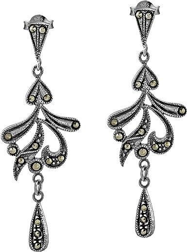 Gorgeous 925 Sterling Silver Dangle Earrings