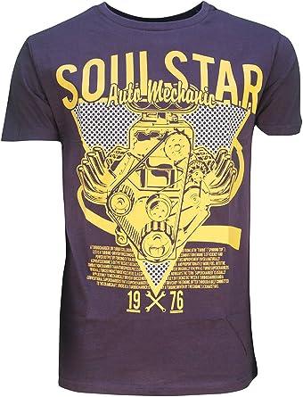 Soulstar Hombre Eightful Manga Corta Automático Mecánico Motor Estampado Gráfico Camiseta: Amazon.es: Ropa y accesorios