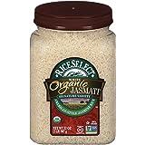 RiceSelect Organic Jasmati, Long Grain Jasmine Rice, Gluten-Free, Non-GMO, 32 oz (Pack of 4 Jars)