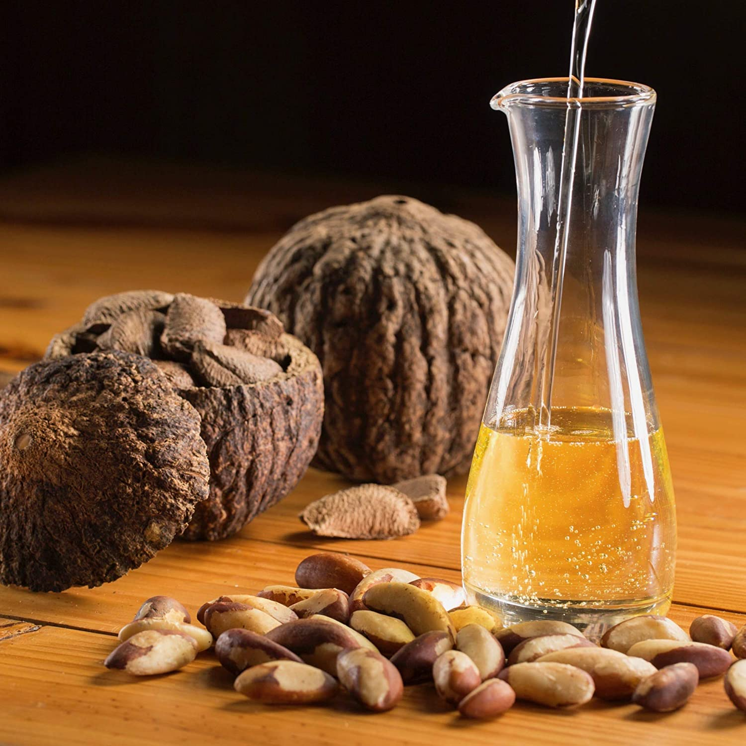 35oz (1kg) Organic Raw Brazil Nut Oil. Unrefined, Cold-pressed, Wild-Harvested, Sustainably Sourced. Food Grade. Natural super emollient.