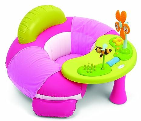 Smoby 211368 - Sillón hinchable de actividades, color rosa: Amazon ...