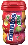 Mentos Sugar-Free Chewing Gum, Red Fruit Lime, 50 Piece Bottle