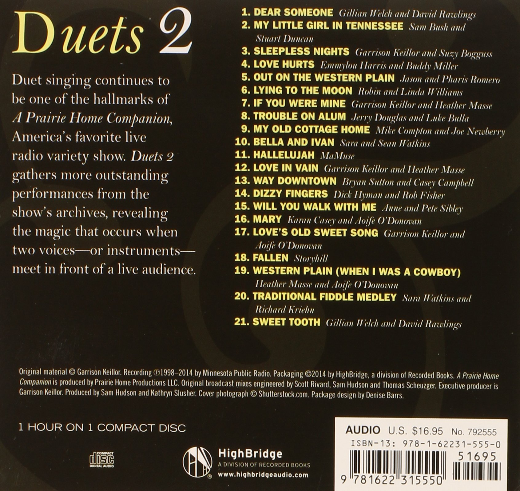 A Prairie Home Companion: Duets 2: Garrison Keillor: 9781622315550:  Amazon.com: Books