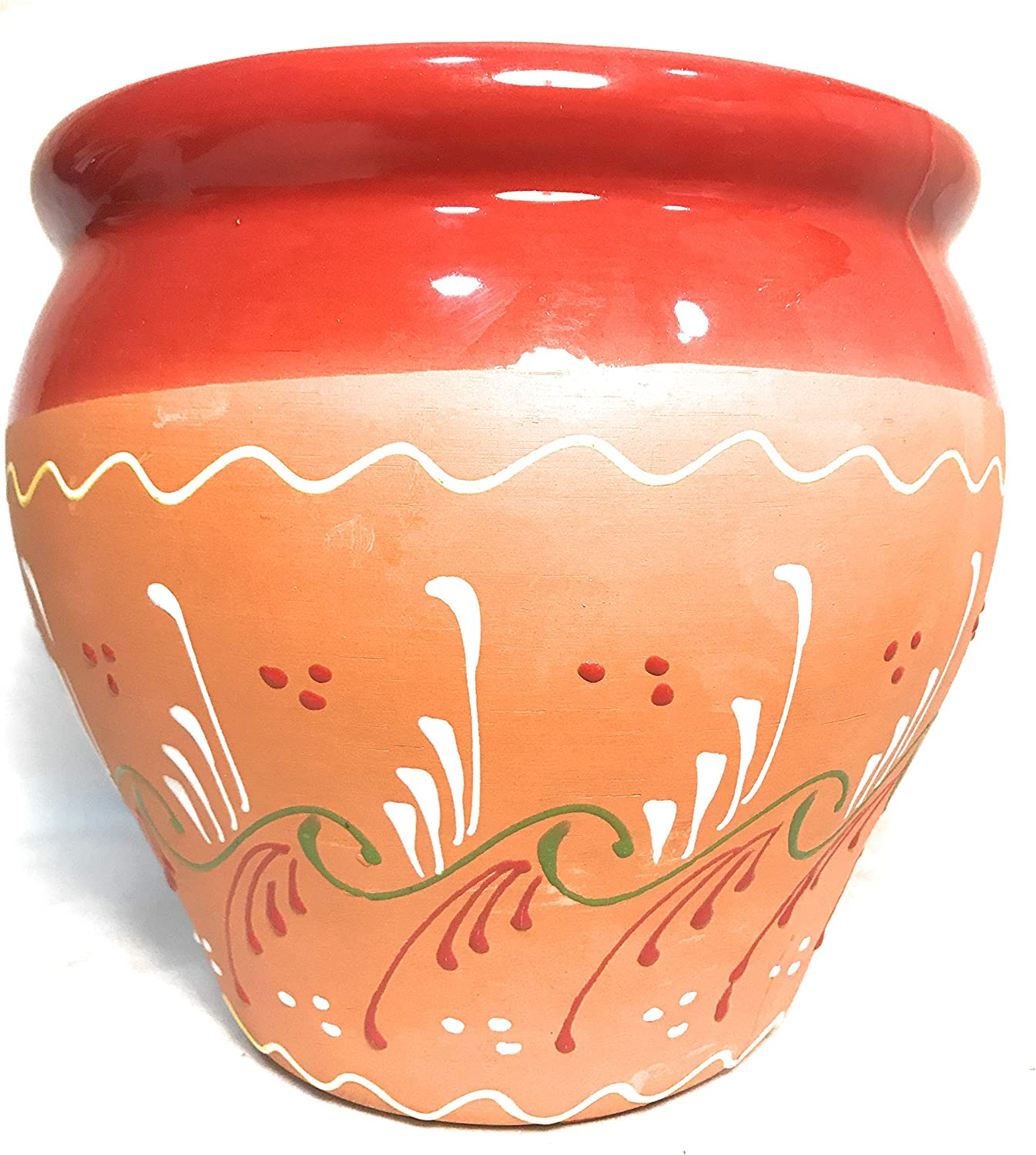 Funky Global Verano Ceramics Inca Bola Red Garden Outdoor Garden