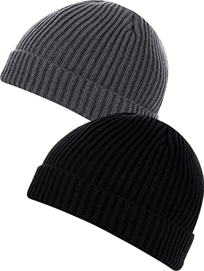 7cfe798372e SATINIOR 2 Pieces Beanie Hat for Men and Women