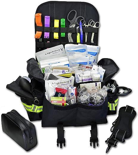 Lightning X Small First Responder EMT EMS Trauma Bag Stocked First Aid Fill Kit B