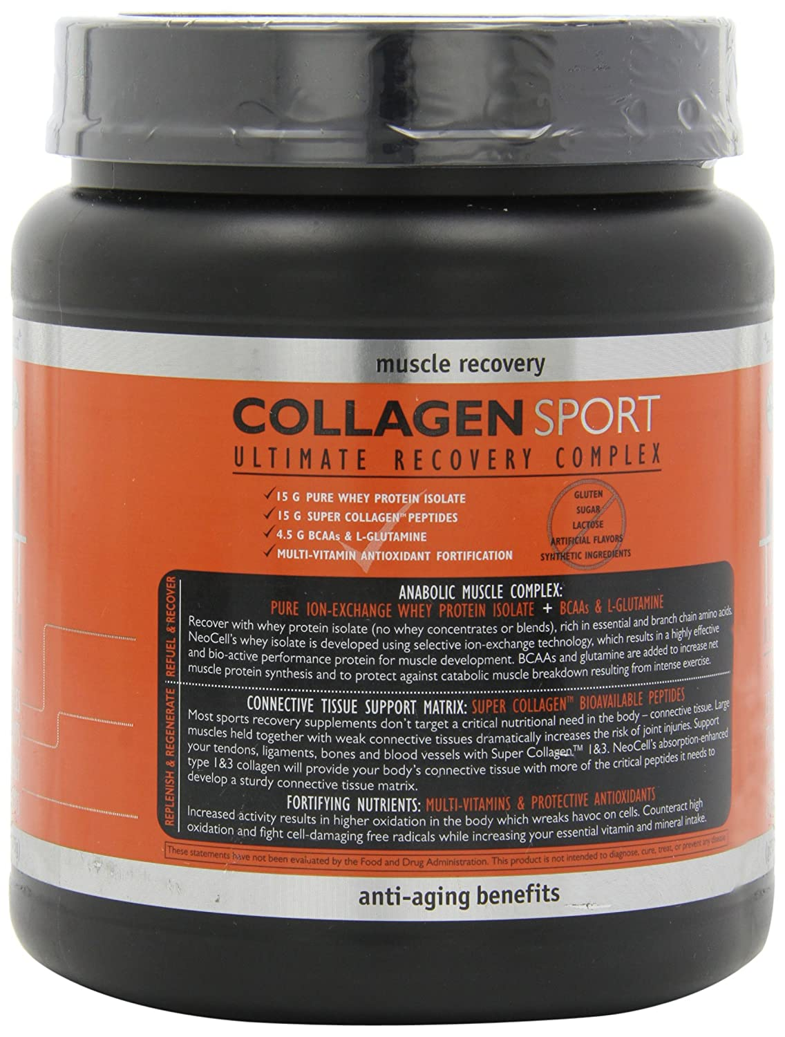 Amazon.com: Neocell Collagen Sport Whey IsolateComplex, 30 grams Protein per Serving, Belgium Chocolate, 23.8 Ounce: Health & Personal Care