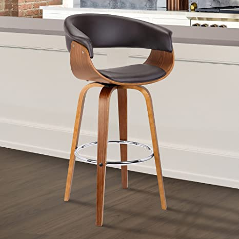 Brilliant Armen Living Lcjsbawabr26 Julyssa Mid Century Swivel Counter Height Barstool 26 Brown Squirreltailoven Fun Painted Chair Ideas Images Squirreltailovenorg