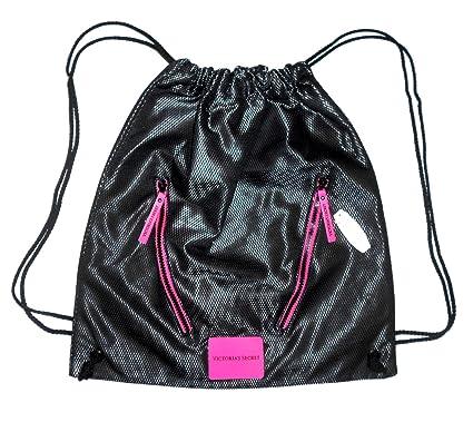 Amazon.com: Victoria s Secret Negro y rosa malla Deporte ...