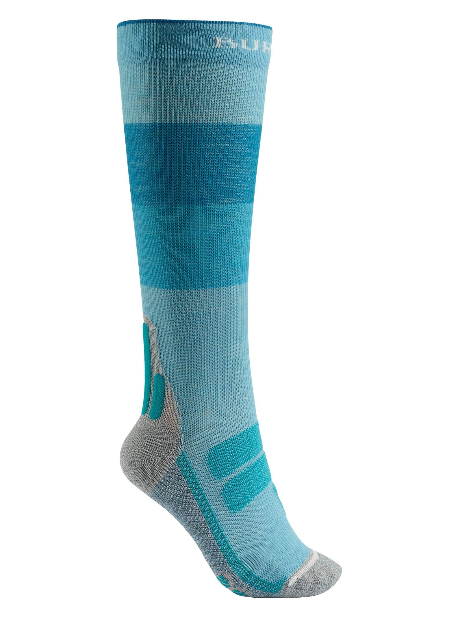 Burton Women's Performance + Ultralight Compression Sock, Tahoe Block, Small by Burton