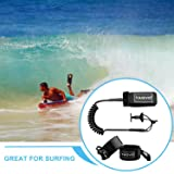 TAGVO Body Board Leash 4 Feet 7mm Coiled with 2