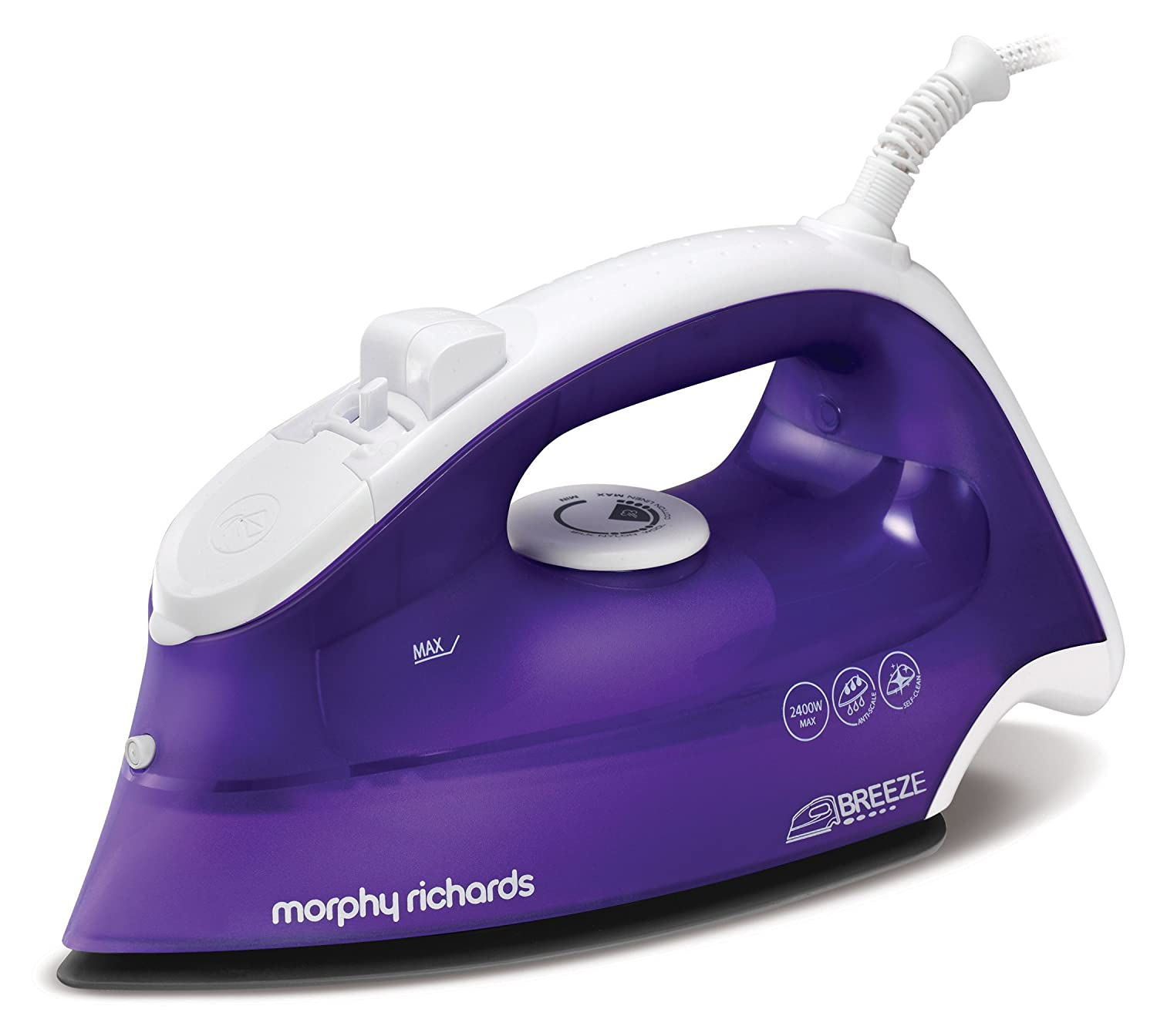 Morphy Richards Breeze Steam Iron 300275 Purple White Breeze Steam Iron