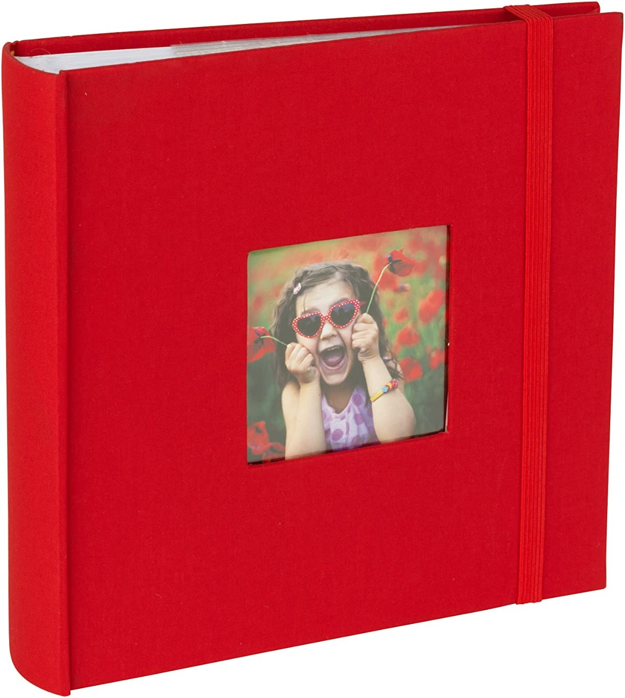 "Kenro Aztec Series Linen Photo Album Red Blue Grey Black for 100 Photos 6x4/"""