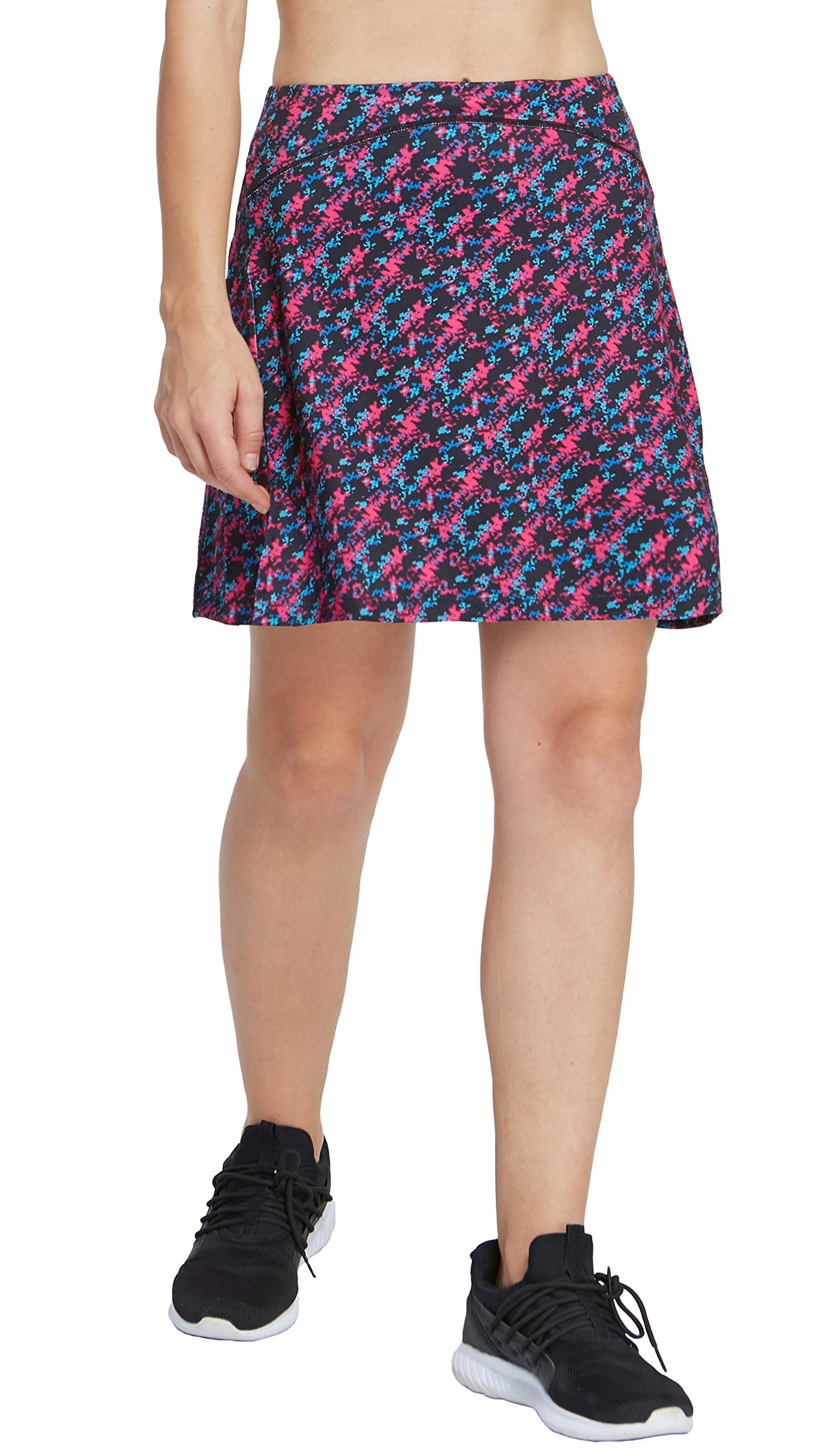 slimour Women Print Golf Skirt Travel Skirts with Pockets Swim Skirt High Waist with Shorts Mixed M by slimour