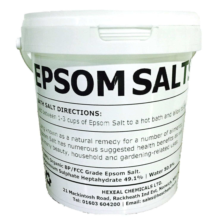 EPSOM SALT | 1KG BUCKET | 100% Natural | FCC Food Grade | Magnesium Sulphate Kali-GmbH