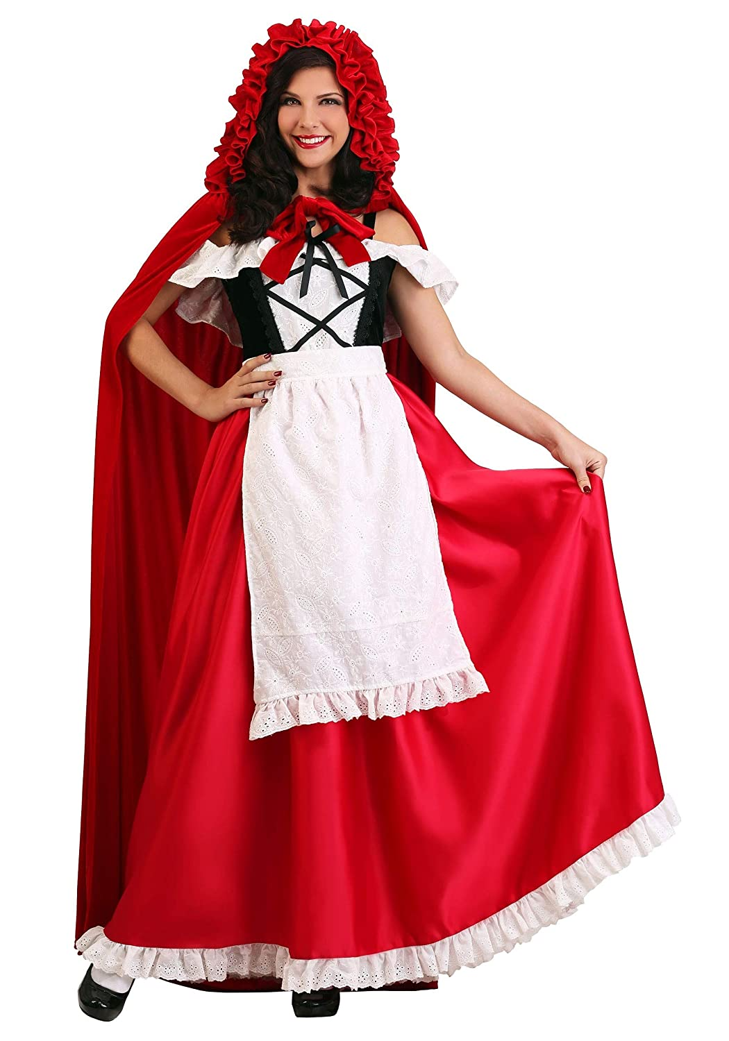 X-grand Wohommes Deluxe rouge Riding Hood Fancy Robe Costume X-grand