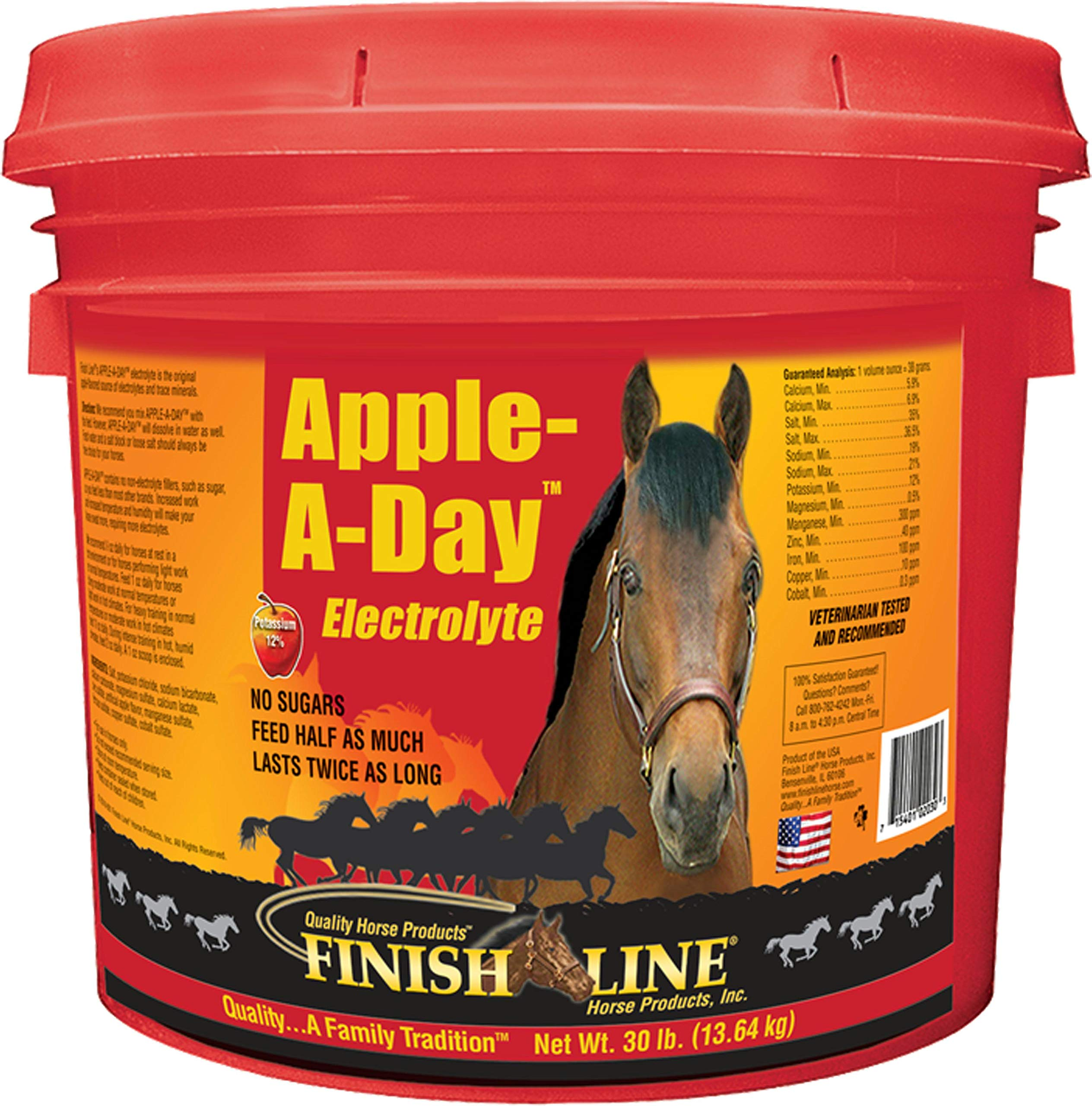 Finish Line Apple-A-Day Electrolyte, 30-Pounds by Finish Line