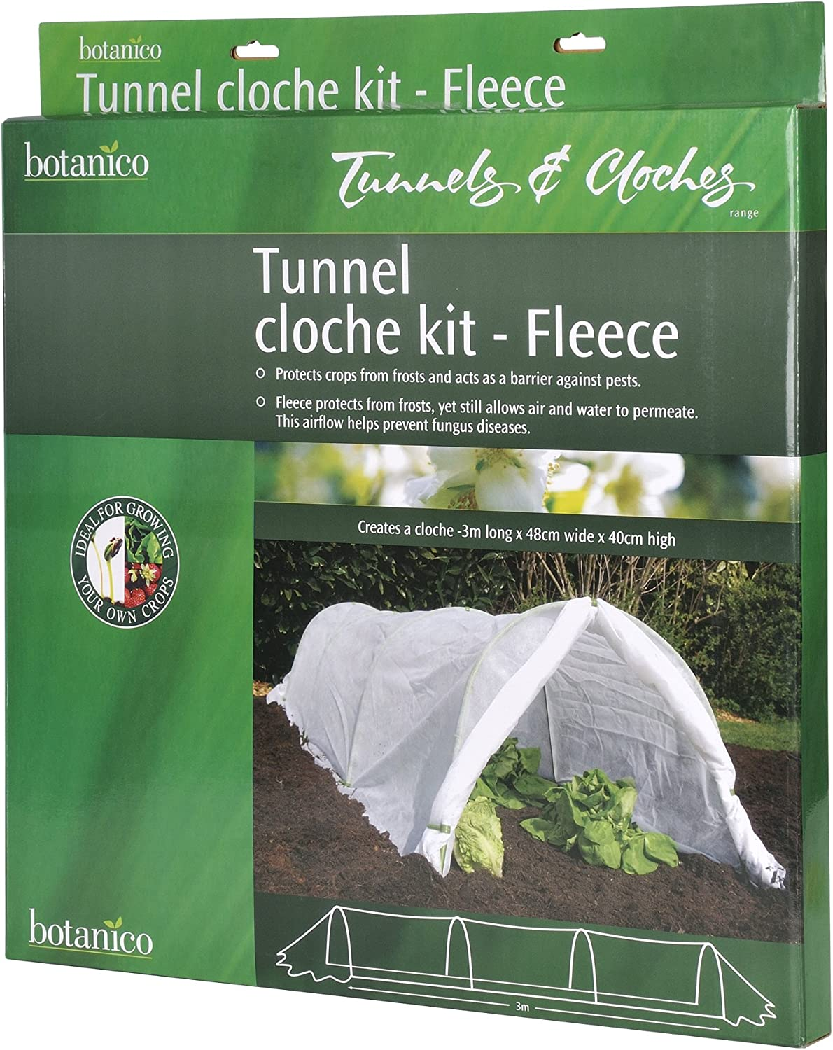 BUY UP TO 6 FLEECE 3m GROW TUNNEL // CLOCHE MULTI BUY DEALS