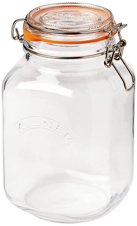 Kilner Storage Jar UK Kilner Square Clip Top Jar 2ltrKilner Preservation Jar