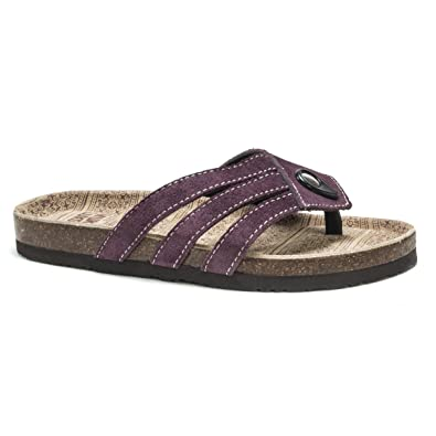 Cool MUK LUKS Francis Women's Thong Sandals Deep Purple