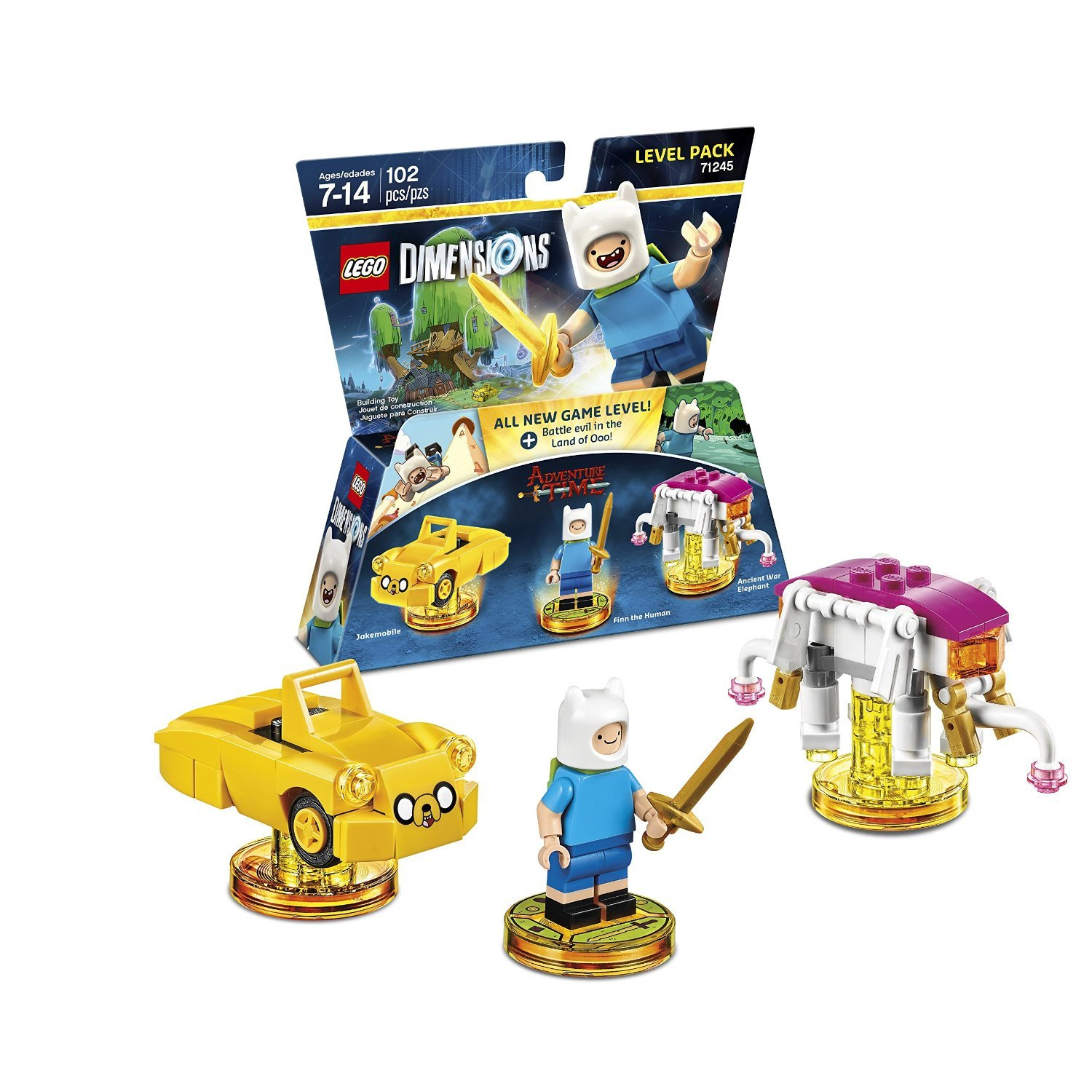 Ninjago Cole & Kai Team Pack + Adventure Time Finn The Human Level Pack + Scooby Doo Team Pack - Lego Dimensions (Non Machine Specific) by WB Lego (Image #3)