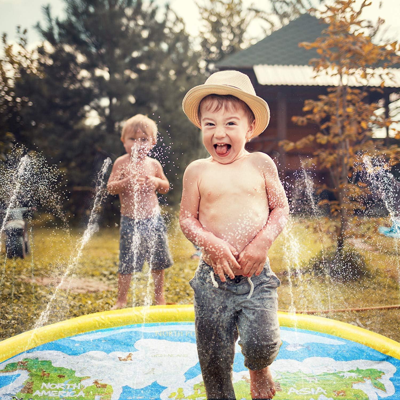 Inflatable Splash Play Mat Summer Sprinkler Water Toys for Toddlers,Kids and Babies Gifts ACSTEP Splash Pad Outdoor Swimming Pool Splash Pad Pool for Babies and Toddlers Outdoor Sprinkler for Kids