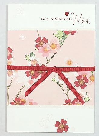 Amazon Com Valentines Card Mom To A Wonderful Mom Hallmark