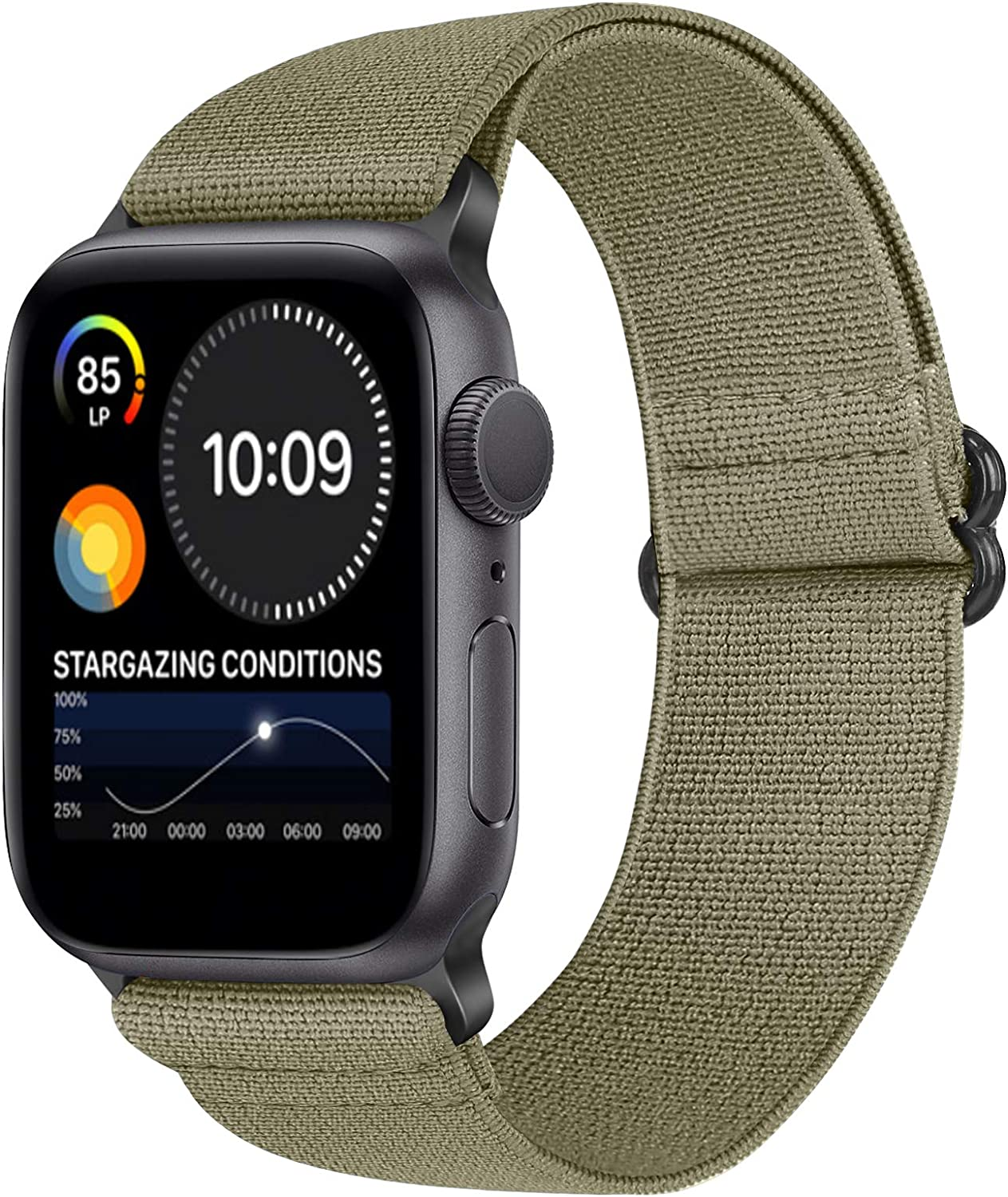 XFYELE Elastic Watch Band Compatible with Apple Watch 44mm 42mm, Adjustable Stretchy Bracelet Replacement Wristbands for iWatch Series SE/6/5/4/3/2/1