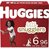Baby Diapers Size 6, 96 Ct, Huggies Little Snugglers