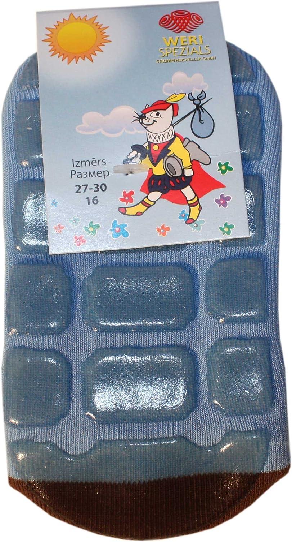 Orso e Api Weri Spezials Spugna Calzini ABS per Bambini con suola Antiscivolo Colore: Blu chiaro 12-24 mesi Taglia: 19-22