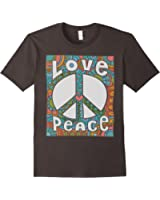 PEACE SIGN LOVE T Shirt 60s 70s Tie Die Hippie Costume Shirt