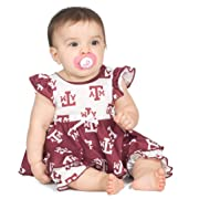 Texas A&M University Aggie Baby Girls Frilly Infant Jumpsuit, Size NB