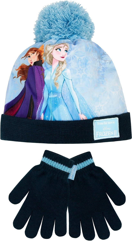 Ensemble LA REINE DES NEIGES bonnet gants NEUF enfant fille 52cm 54cm
