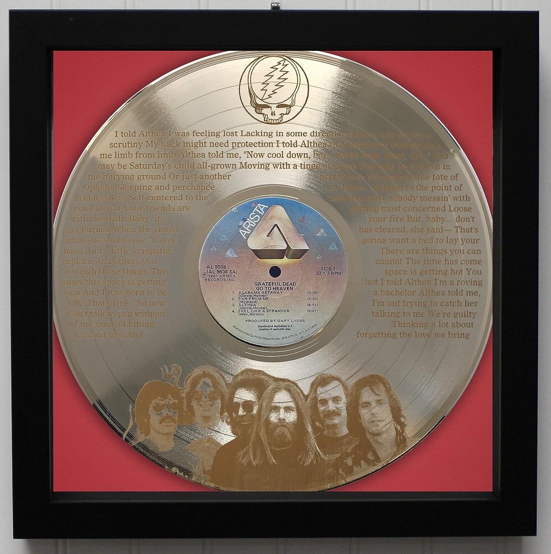 Grateful Dead - Althea Framed Laser Etched Gold LP Record M4