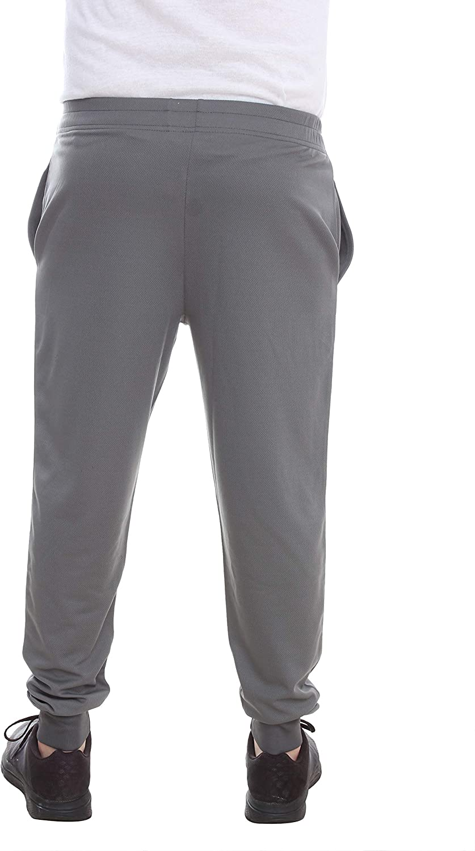 VMZ Fashion Mens Gym Slim-Fit Moisture-Wicking Jogger Workout Pants Training Bodybuilding Lightweight Deep Pocket