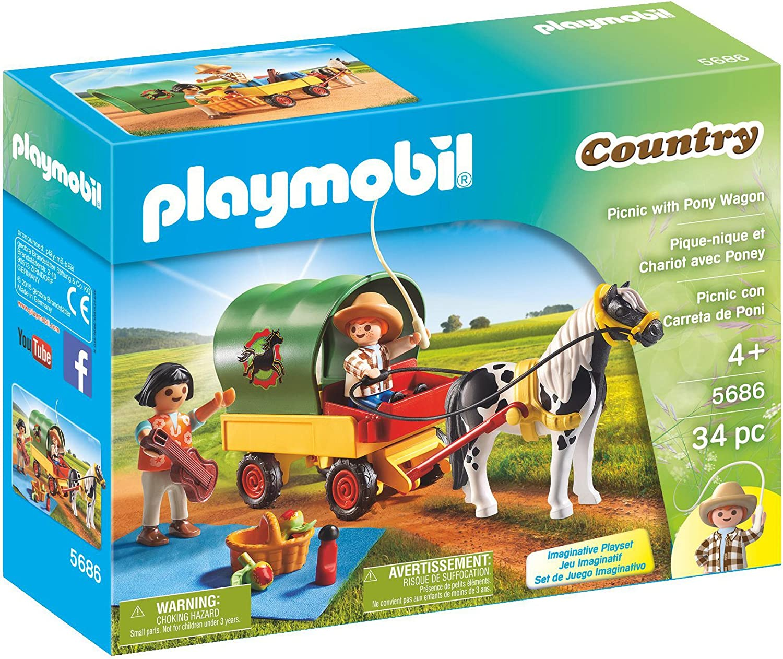 PLAYMOBIL Picnic with Pony Wagon